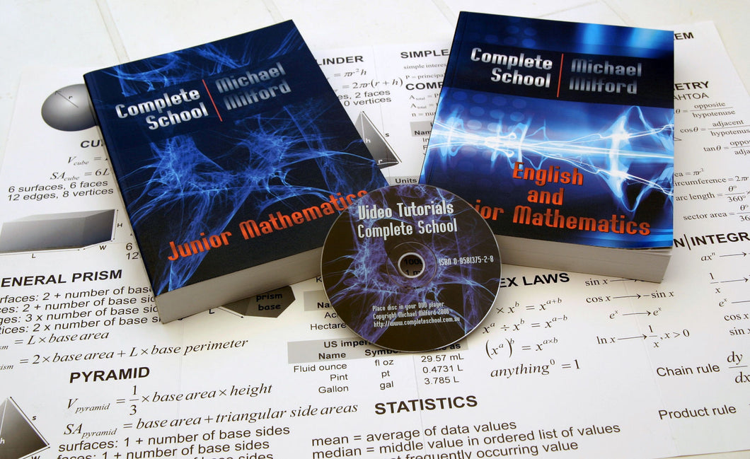 Complete School Math and English Educational Package