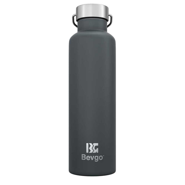 Bevgo Stainless Steel Bottle - 750mL with Bonus Cap and Carabiner Clip - FREE SHIPPING (AUSTRALIA WIDE)