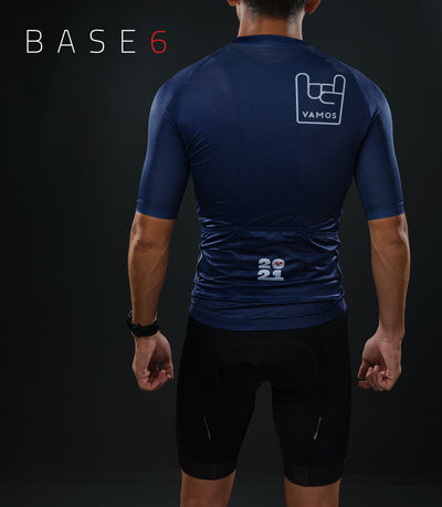 BASE6 MEN'S CYCLING TOP (NAVY)