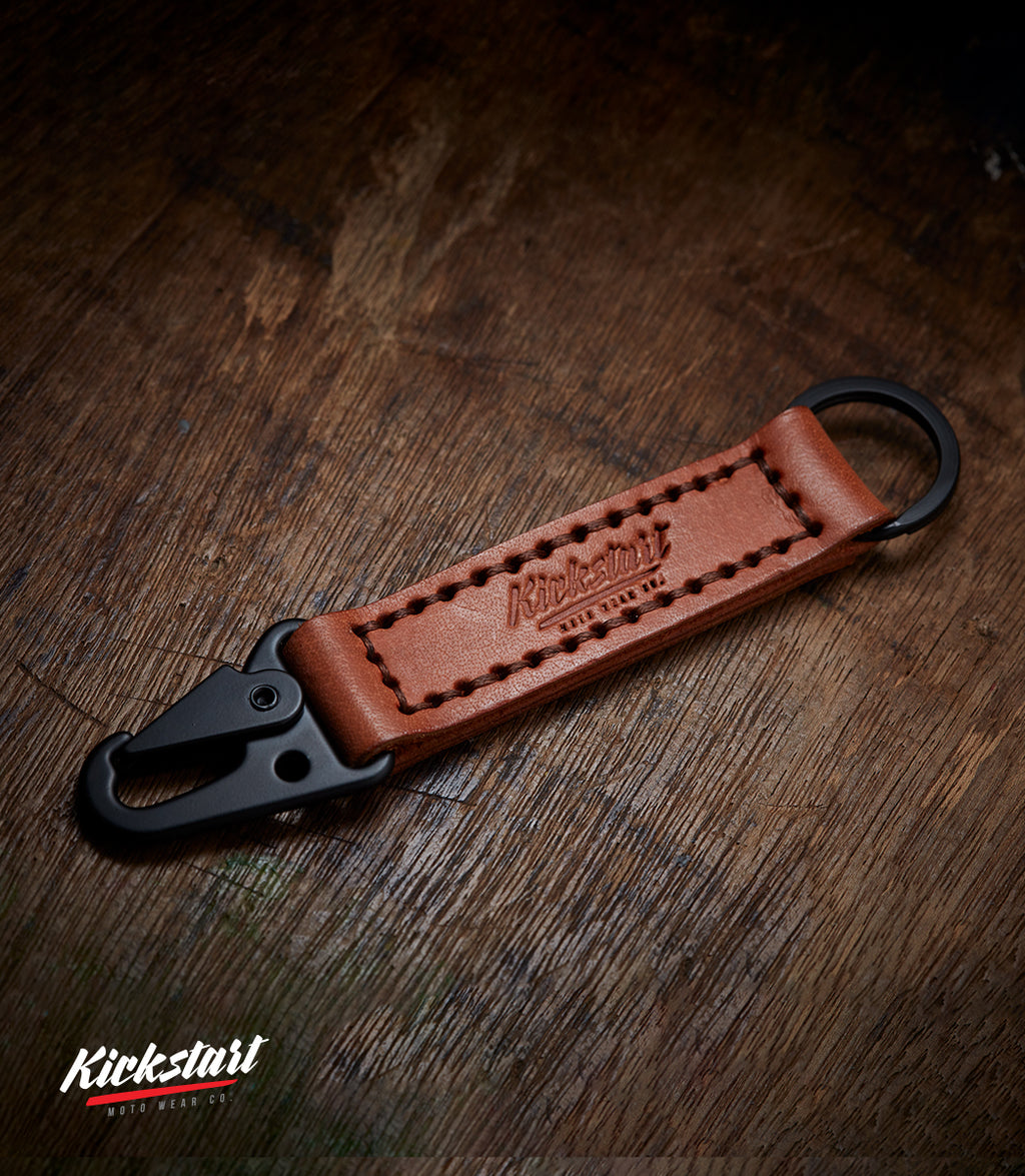 KMW Stealth Leather Keychain (Brown)