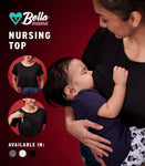 ADELE NURSING TOP (BLACK)