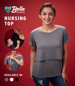 ADELE NURSING TOP (DARK GRAY)