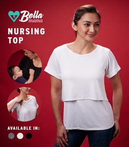 ADELE NURSING TOP (WHITE)