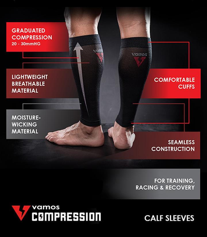 COMPRESSION CALF SLEEVES (GRAY)