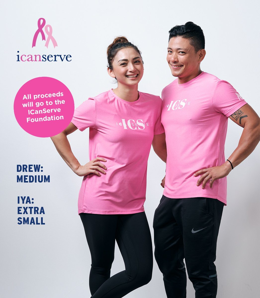 ICANSERVE UNISEX TEE (HOT PINK)