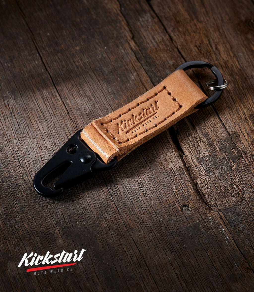 KMW Leather Keychain (Camel)