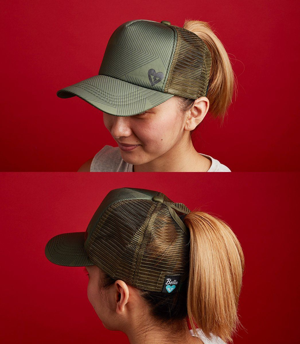 PONYTAIL CAP (GREEN)