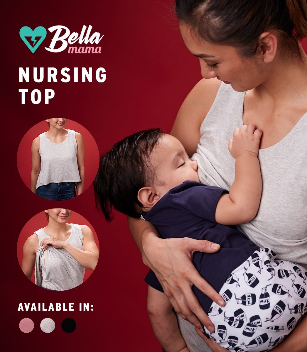 VICKY NURSING TOP (GRAY)