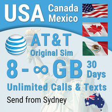 USA sim card AT&T Prepaid Hawaii Canada Mexico