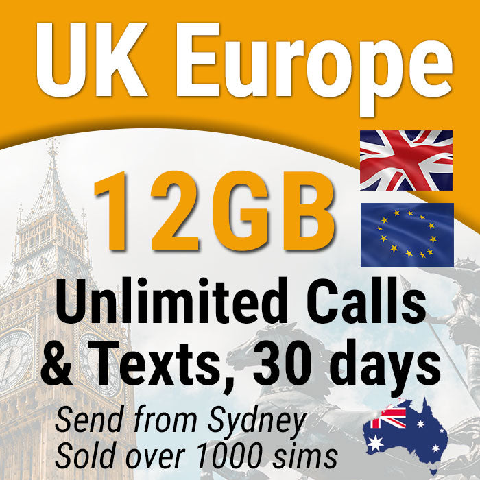 Europe UK sim card