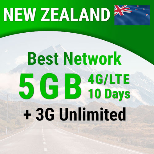 New Zealand sim card | Spark | 5GB | 10 Days