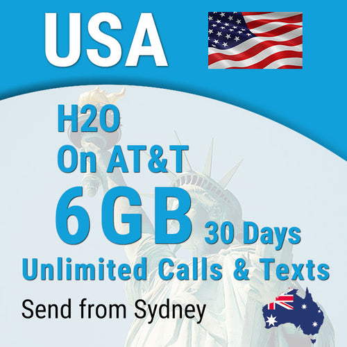 USA sim card AT&T H2O Prepaid Hawaii