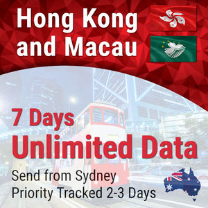 Hong Kong and Macau | 7 days | Unlimited Travel Data Sim Card