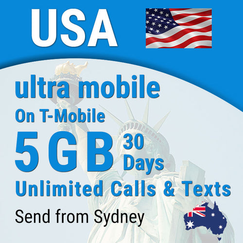 USA sim card Ultra Prepaid Hawaii 5GB