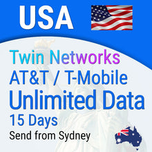 Sim Card USA Prepaid (incl Hawaii) | 15 days Travel Unlimited Data
