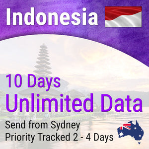 Indonesia (Bali) Sim Card | 10 days | Unlimited Travel Data Sim Card