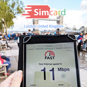 Europe Sim Card | UK Travel Sim | 42 Countries | 15 days 7.5GB
