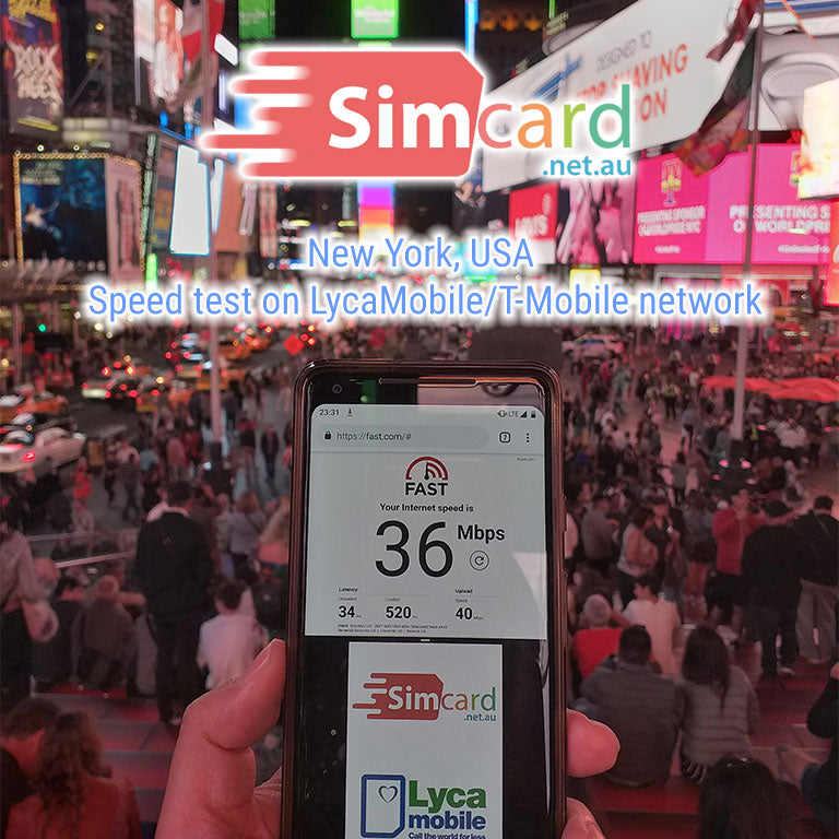 USA Sim Card Prepaid (incl Hawaii) | Lycamobile | Unlimited calls and texts  to Australia