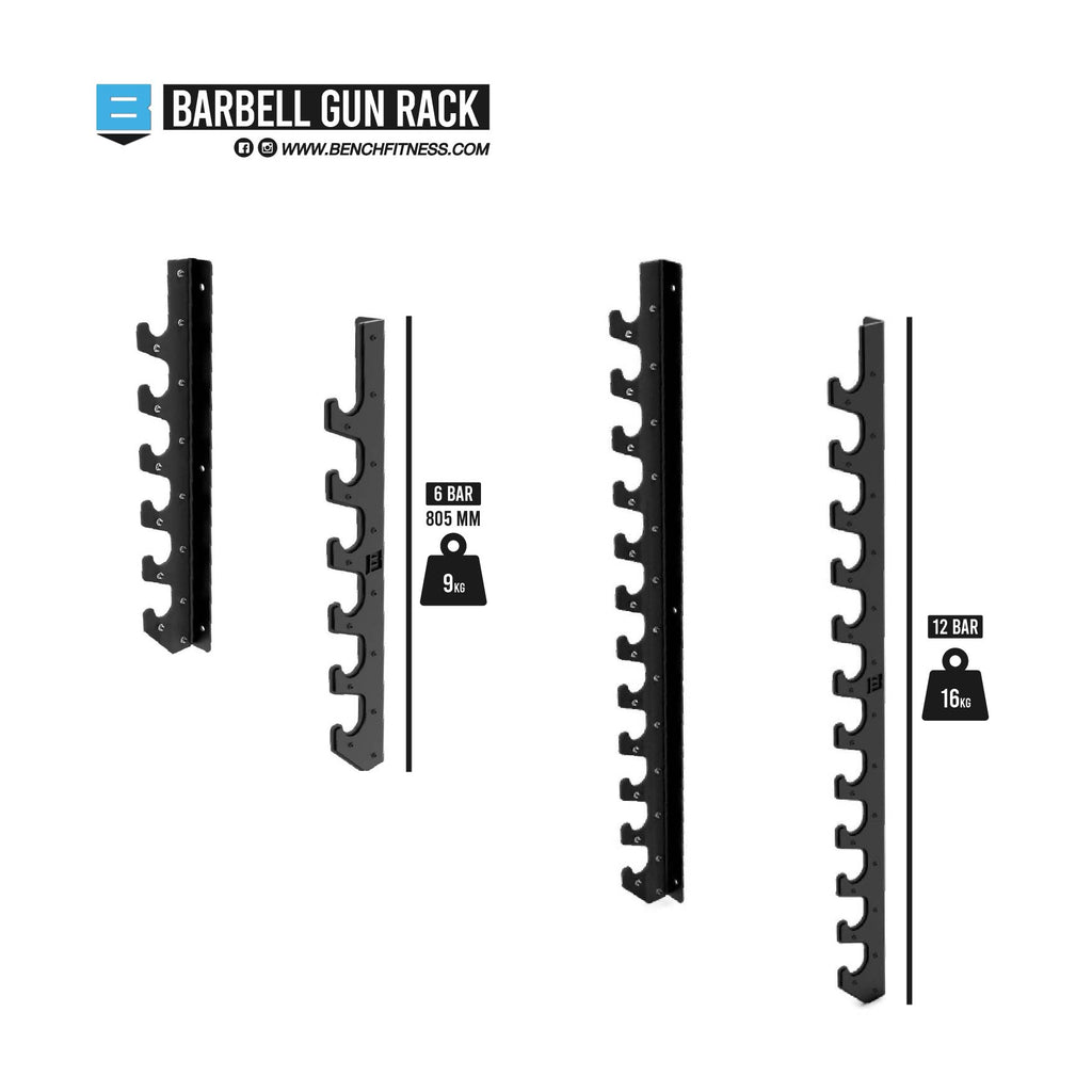 Barbell Gun Rack - Bench Fitness Equipment