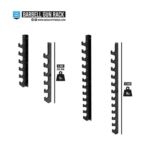 Image of Barbell Gun Rack - Bench Fitness Equipment