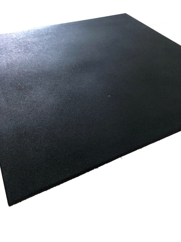 Image of Black 1m x 1m x 15mm Rubber Tile - Bench Fitness Equipment