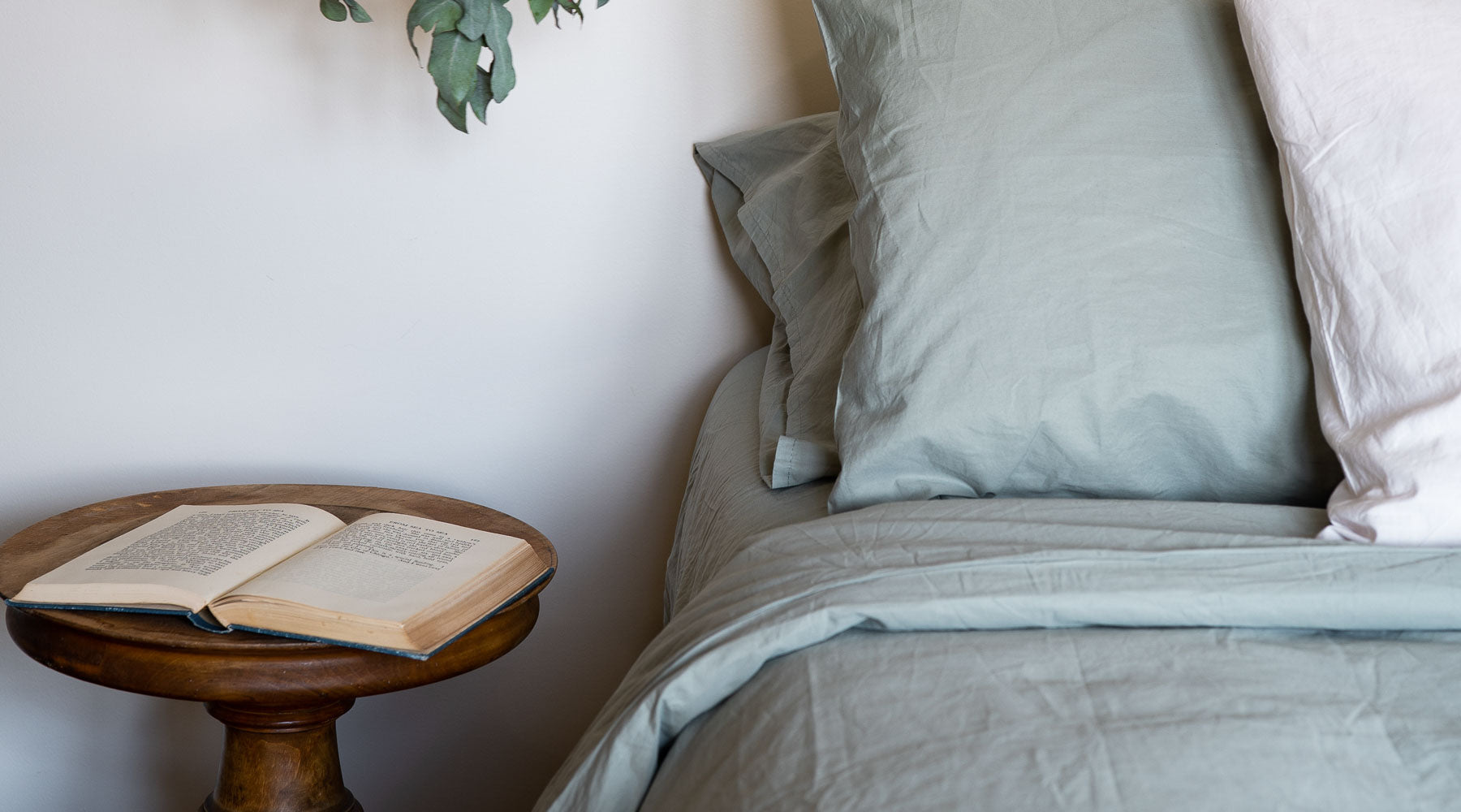 Introducing Sage green bedding