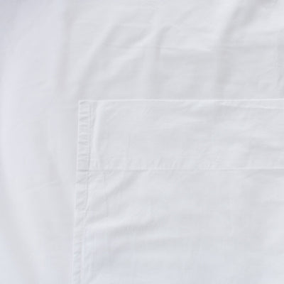 Heavyweight Cotton Percale Flat Sheet White