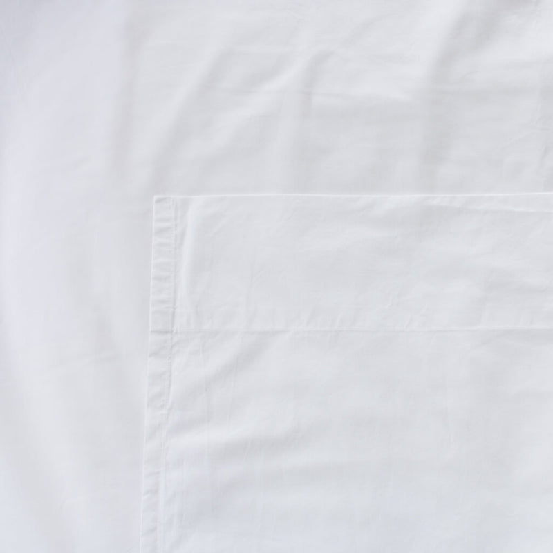Thick Cotton Percale Flat Sheet White