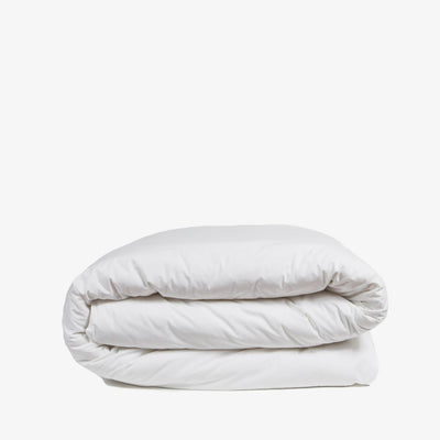 Heavyweight Cotton Percale Quilt Cover White