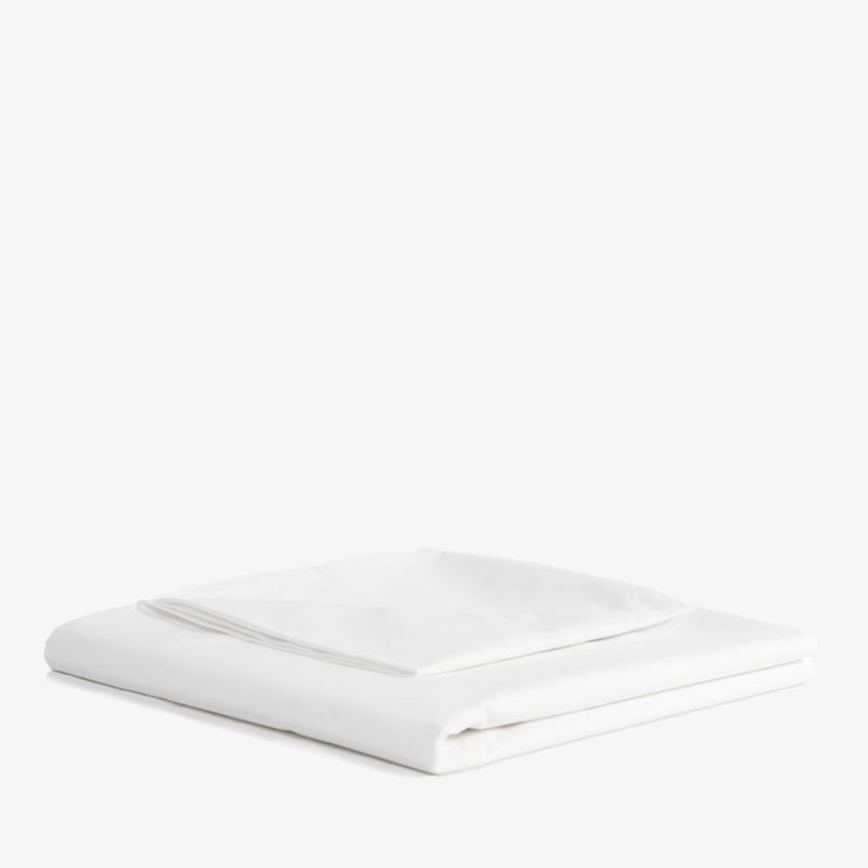 Cotton Percale Flat Sheet in White