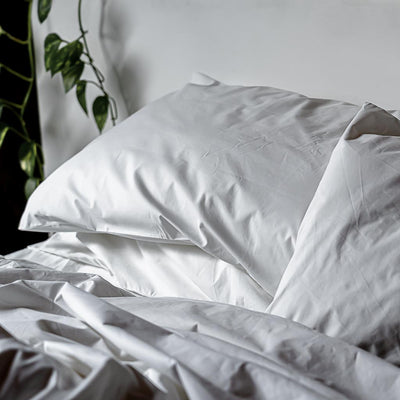 Thick Cotton Percale Pillowcases White