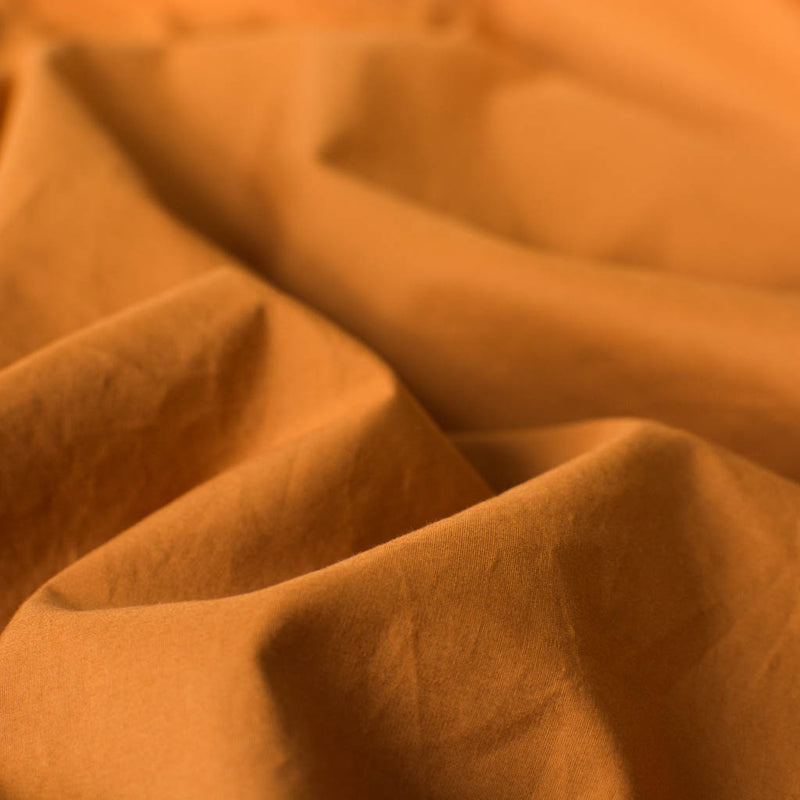 Cotton Percale Flat Sheet Amber