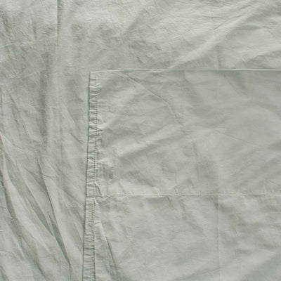 Cotton Percale Flat Sheet Sage