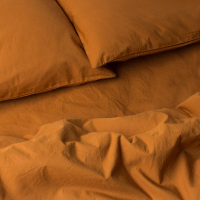 Percale Cotton Pillowcase Set Amber