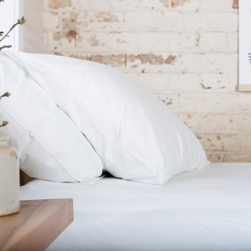 Cotton Percale Pillowcases White