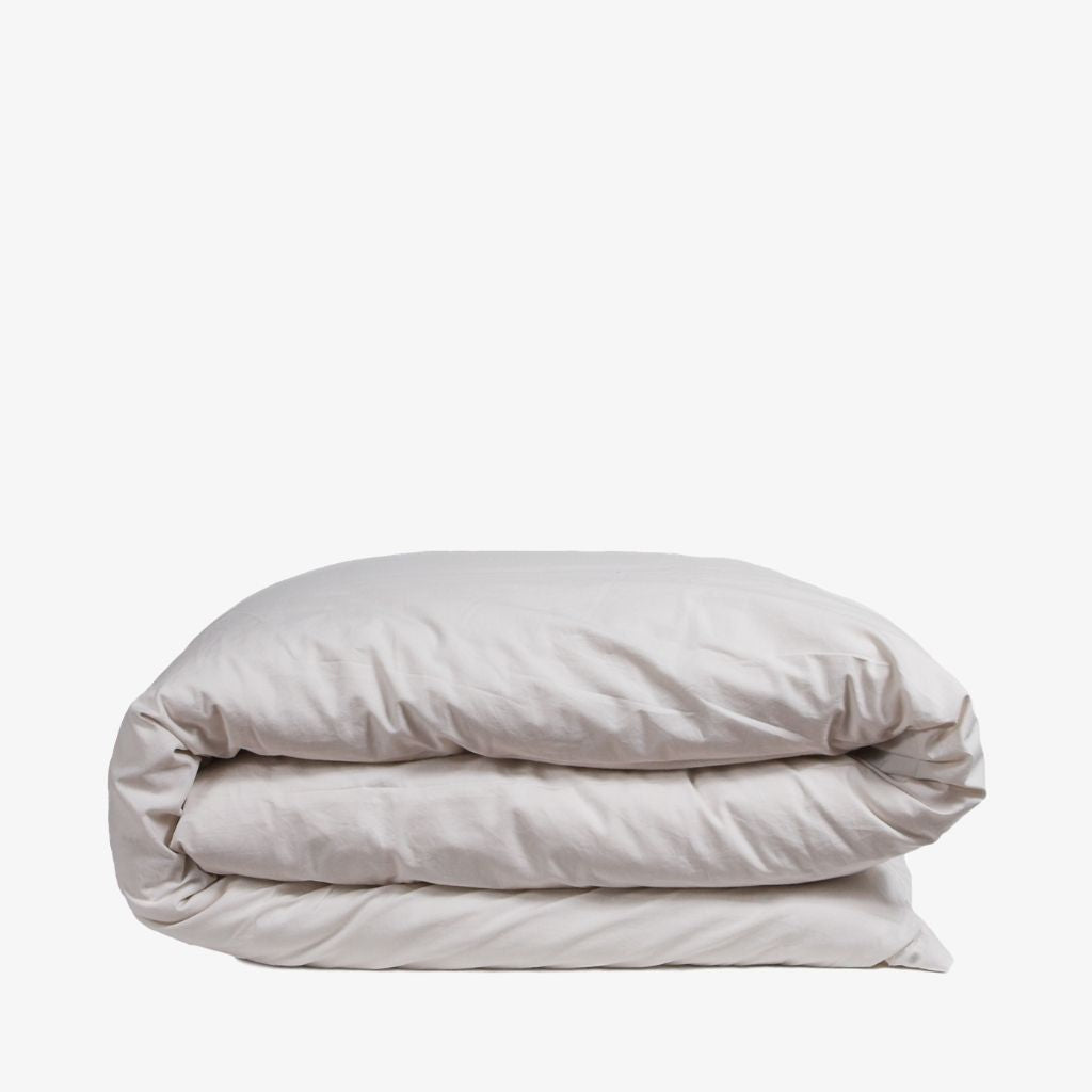 Washed Cotton Percale Quilt Cover Sand