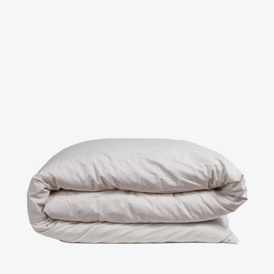 Cotton Percale Quilt Cover Sand