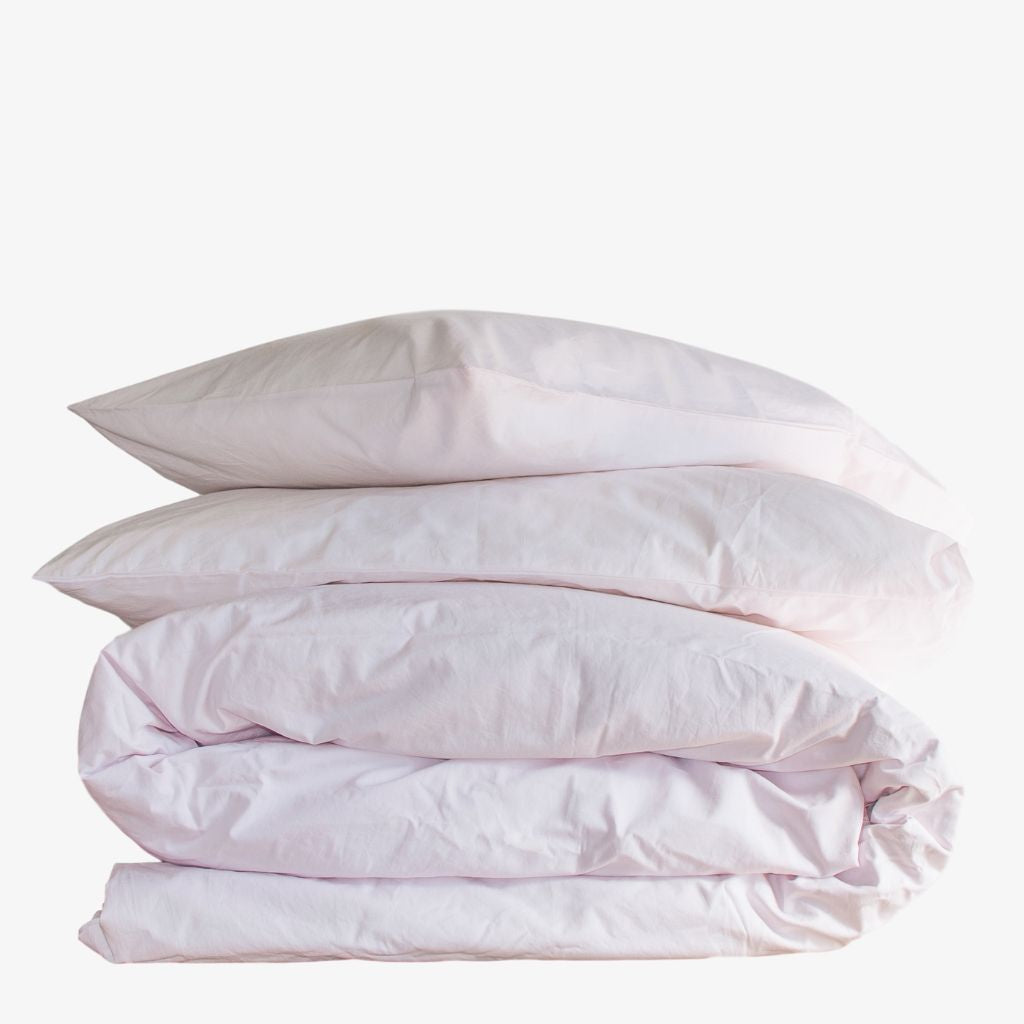 Cotton Percale Quilt Cover Set Wildflower Pink