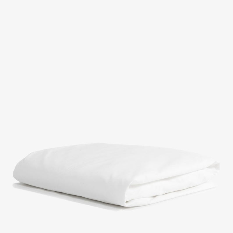 Cotton Sateen Fitted Sheet White