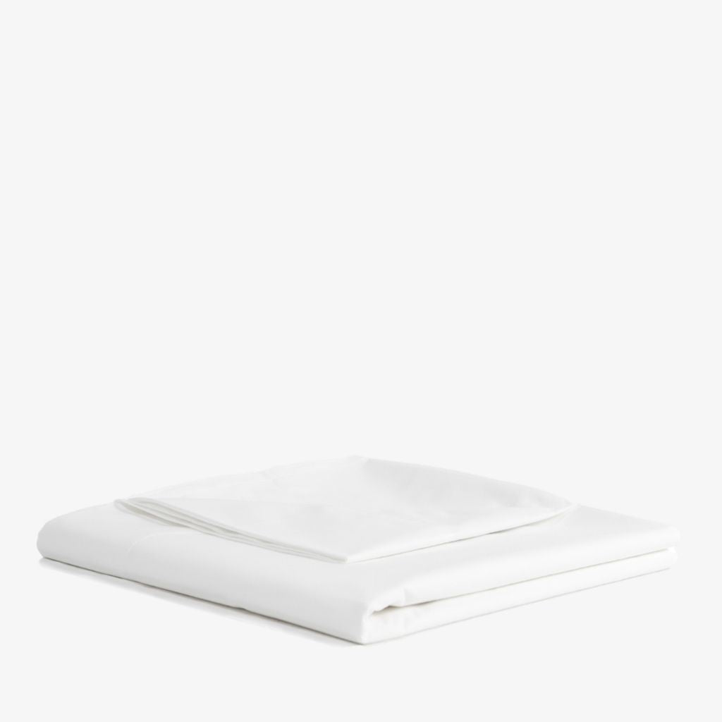 Cotton Sateen Flat Sheet White