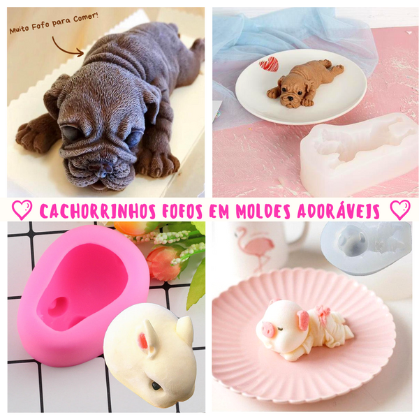Cute & Fluffy - Molde 3D de Animais
