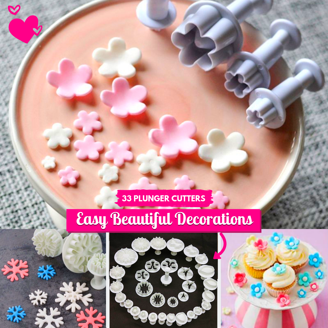 Bake & Decorate Plunger Cutters (33 PCS)