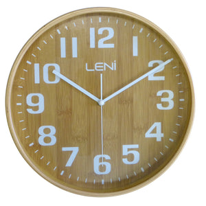 Leni Wood Wall Clock Bamboo