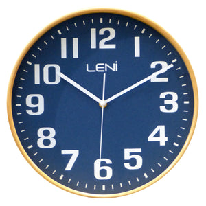 Leni Wood Wall Clock - Navy