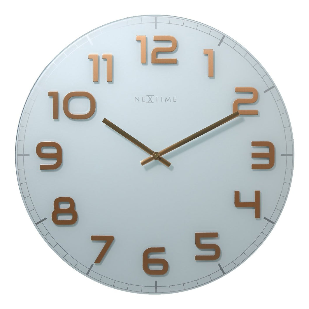 Large Classy Wall Clock - White
