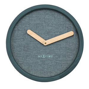 Small Wooden Calm Wall Clock - Turquoise