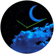 New Moon Luminous Dome Wall Clock (Glow in the Dark)