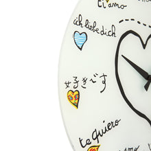 NeXtime Multicolored Loving You Wall Clock