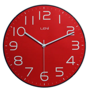 Leni Classic Wall Clock - Red