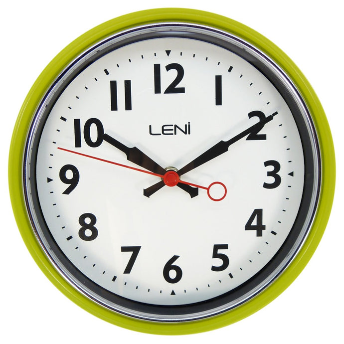 Leni Essential Wall Clock - Lemon